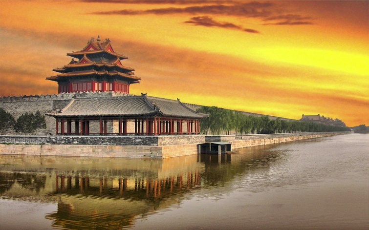 Sunset-at-Forbidden-City-Beijing-China
